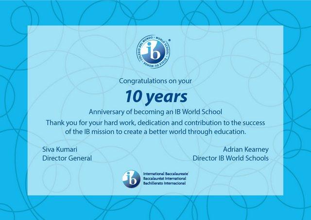 list gratulacyjny 10-anniversary IB WIS